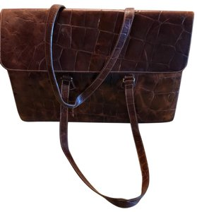 Furla Rare Vintage Leather Briefcase Briefcase Embossed Leather Made In Italy Laptop Bag