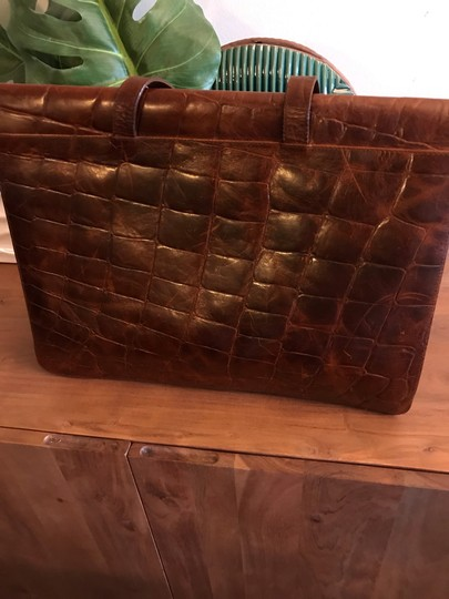 Furla Rare Vintage Leather Briefcase Briefcase Embossed Leather Made In Italy Laptop Bag Image 11