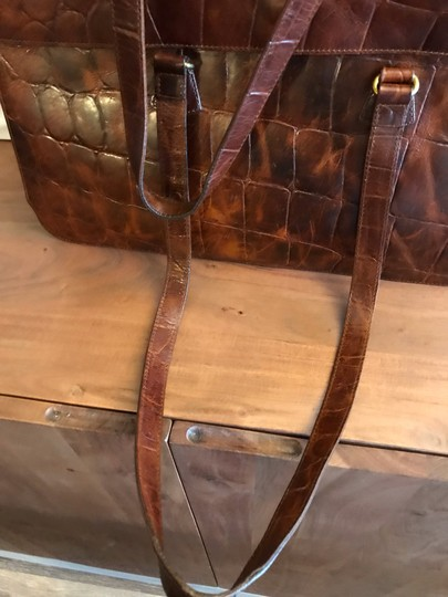 Furla Rare Vintage Leather Briefcase Briefcase Embossed Leather Made In Italy Laptop Bag Image 3