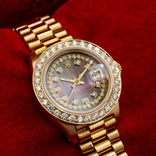 Rolex Rolex Lady-Datejust 6917 26MM Black Diamond Dial With Yellow Gold Image 1
