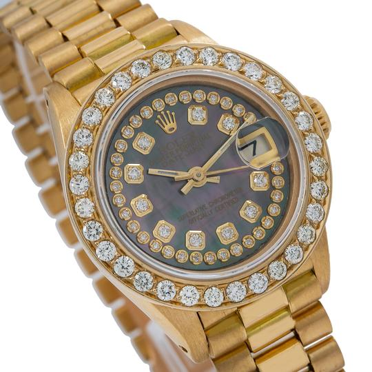 Rolex Rolex Lady-Datejust 6917 26MM Black Diamond Dial With Yellow Gold Image 2