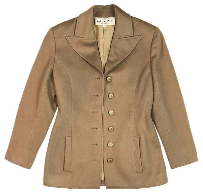 Item - Camel Italy Cashmere Wool Button Coat Size 8 (M)