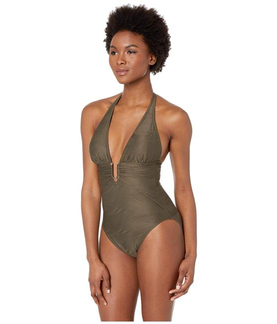 Vince Camuto Vince Camuto Pacific Wave Plunging texture one piece women's size 4 Image 1