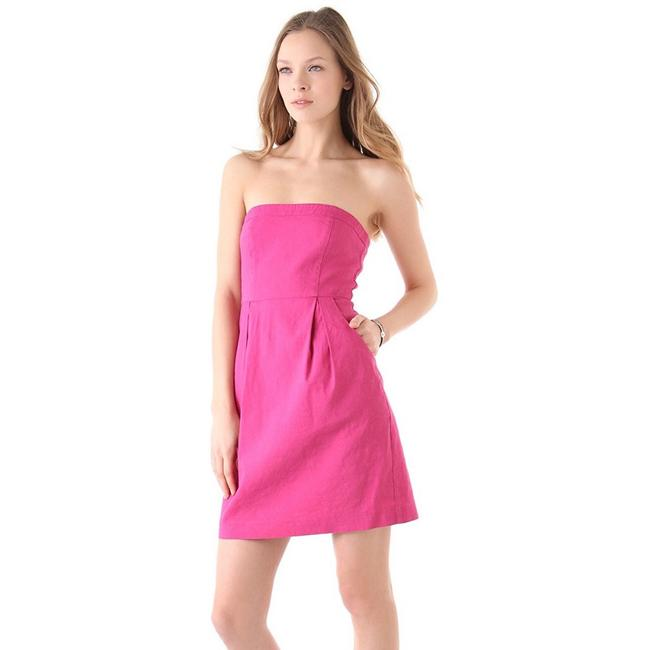 Preload https://img-static.tradesy.com/item/25834338/theory-pink-tyrah-linen-blend-strapless-short-casual-dress-size-4-s-0-0-650-650.jpg