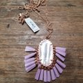 Kendra Scott Kendra Scott Lilac Mother of Pearl Adjustable Besty Necklace Image 4