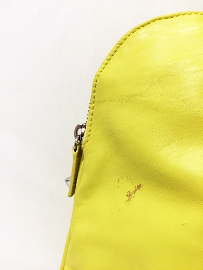 Tory Burch Dome Satchel Leather Studded Tote in Citrus Image 5