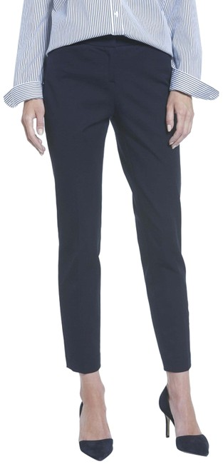 Valentino Slim Straight Trouser Pants NAVY Image 0