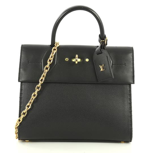 Louis Vuitton City Steamer Leather Satchel in black Image 1