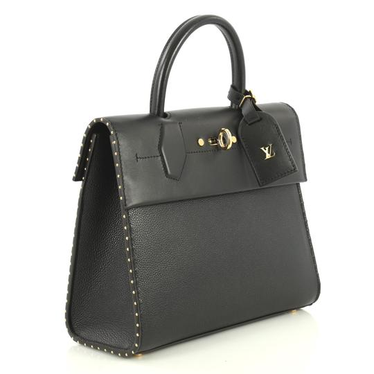 Louis Vuitton City Steamer Leather Satchel in black Image 2