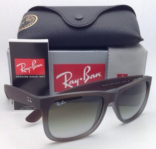 Ray-Ban Ray-Ban Sunglasses JUSTIN RB 4165 854/7Z Rubber Brown on Grey Frames Image 10