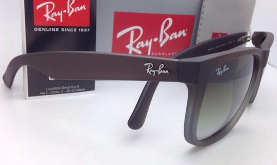 Ray-Ban Ray-Ban Sunglasses JUSTIN RB 4165 854/7Z Rubber Brown on Grey Frames Image 11