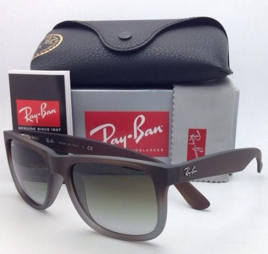 Ray-Ban Ray-Ban Sunglasses JUSTIN RB 4165 854/7Z Rubber Brown on Grey Frames Image 2