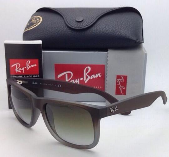 Ray-Ban Ray-Ban Sunglasses JUSTIN RB 4165 854/7Z Rubber Brown on Grey Frames Image 8
