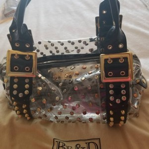 Be&D Satchel in Black and Gold studded Vinyl