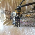 Be&D Satchel in Black and Gold studded Vinyl Image 5