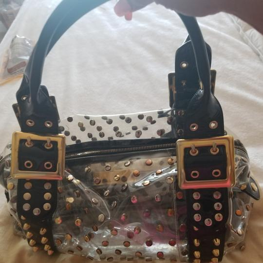 Be&D Satchel in Black and Gold studded Vinyl Image 9