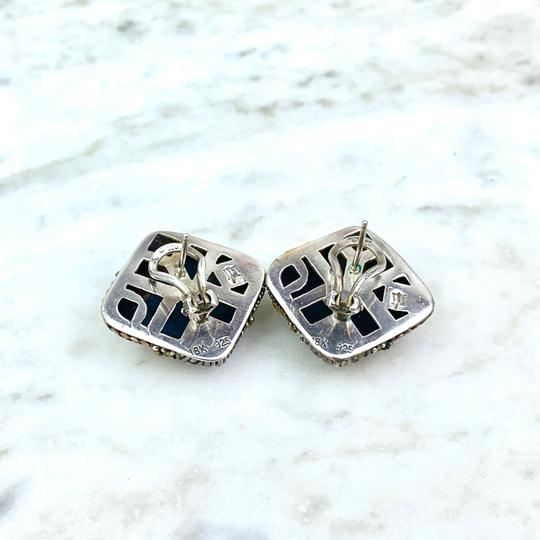 John Hardy 18K and Sterling Silver Abstract Ear Clips Image 1