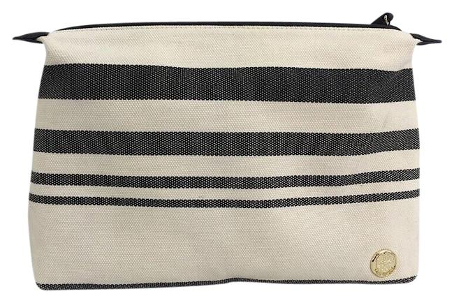 Vince Camuto Pouch Offwhite-blue Striped Textile Shoulder Bag Vince Camuto Pouch Offwhite-blue Striped Textile Shoulder Bag Image 1