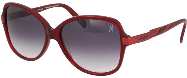 Guess By Marciano Burgundy Oval Sunglasses Guess By Marciano Burgundy Oval Sunglasses Image 1