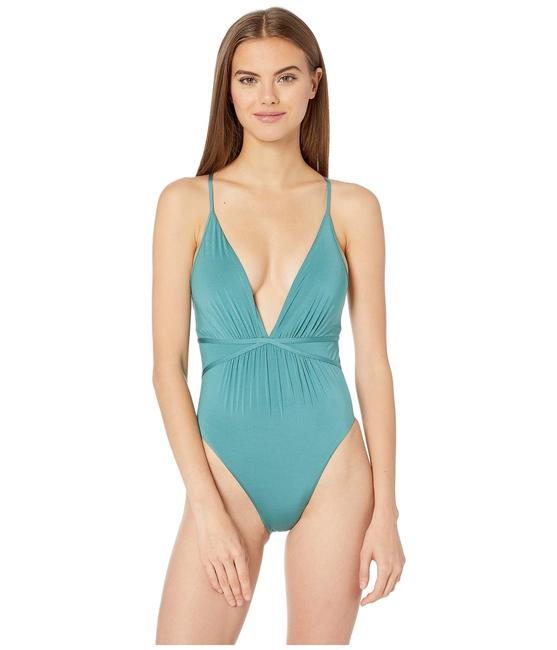 Item - Atlantis Core Solids Shirr Plunge Women's One-piece Bathing Suit Size 4 (S)