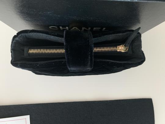 Chanel Quilted Flap Gold Black Clutch Image 4