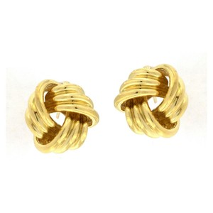 Tiffany & Co. Tiffany & Co. Omega Back Knot Earrings 18k Yellow Gold