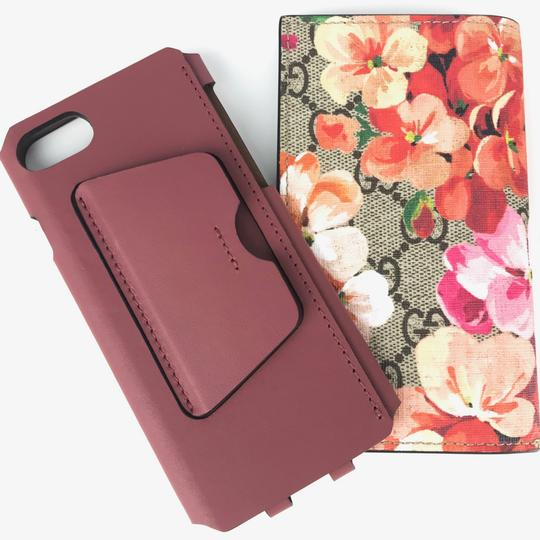 Gucci NEW GUCCI 476798 GG Blooms iPhone 7 Wallet Case Image 11