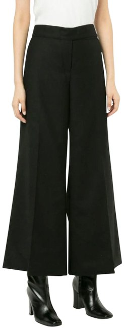 Preload https://img-static.tradesy.com/item/25834511/chanel-black-wool-high-waist-cc-button-trousers-44-pants-size-12-l-32-33-0-1-650-650.jpg