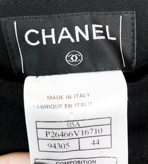 Chanel Runway Coco Cc Wide Leg Pants BLACK Image 4