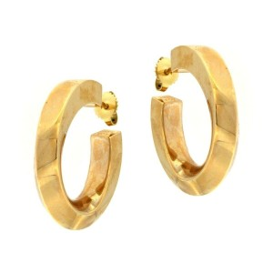 Tiffany & Co. Tiffany & Co. Classic Hoop Earrings with Twist 14kt Yellow Gold