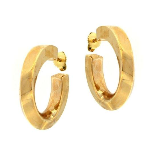Tiffany & Co. Tiffany & Co. Classic Hoop Earrings with Twist 14kt Yellow Gold Image 2