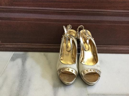 Just Cavalli White gold Wedges Image 2