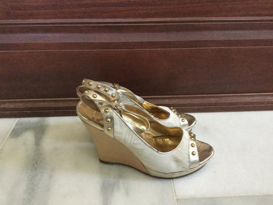 Just Cavalli White gold Wedges Image 5