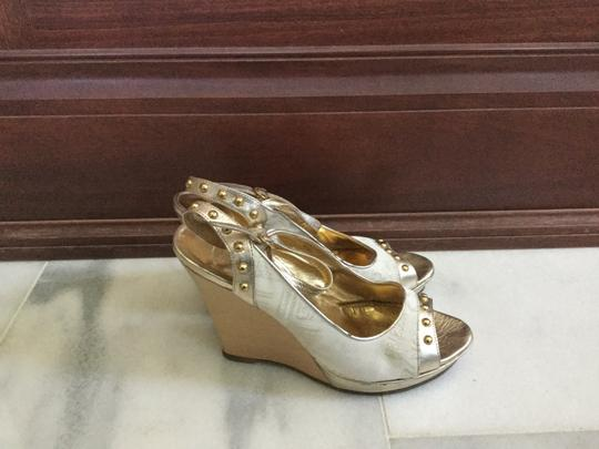 Just Cavalli White gold Wedges Image 6