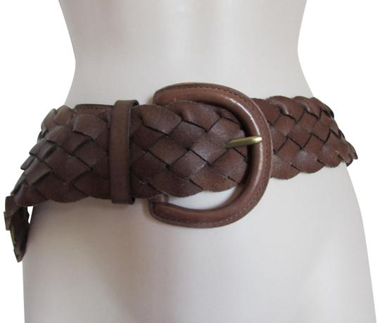 Banana Republic Banana Republic Braided Women's Woven Brown Leather Belt M Image 0