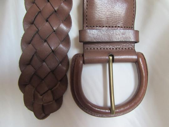 Banana Republic Banana Republic Braided Women's Woven Brown Leather Belt M Image 2