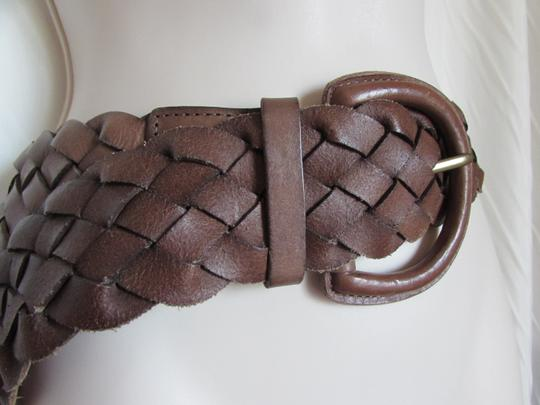 Banana Republic Banana Republic Braided Women's Woven Brown Leather Belt M Image 4