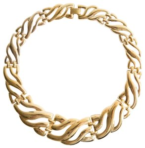 alberto juan 18 kt Gold Plated Chunky Collar Necklace