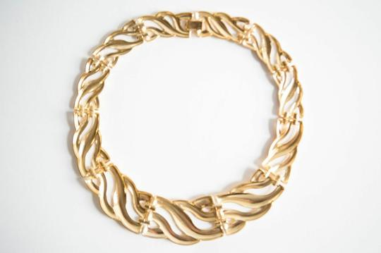 alberto juan 18 kt Gold Plated Chunky Collar Necklace Image 2