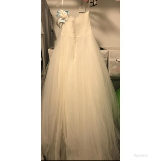 Mori Lee Ivory 5172 Modern Wedding Dress Size 10 (M) Image 4