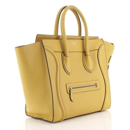 Céline Luggage Leather Satchel in yellow Image 1