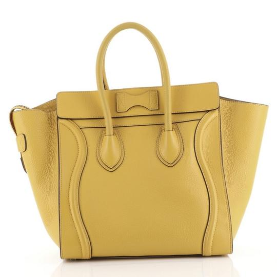 Céline Luggage Leather Satchel in yellow Image 2