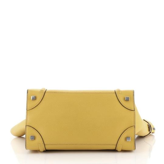 Céline Luggage Leather Satchel in yellow Image 3