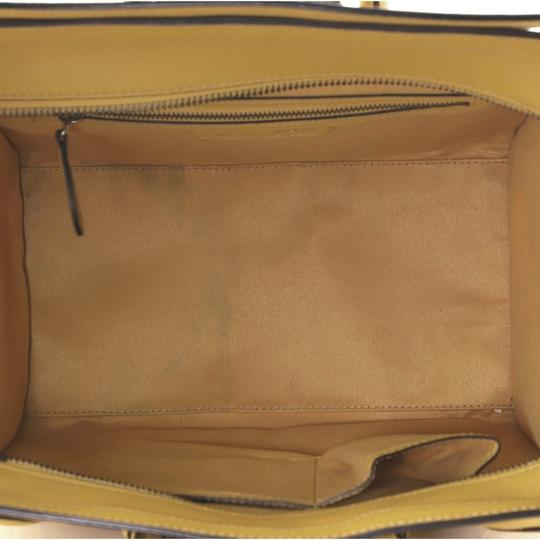 Céline Luggage Leather Satchel in yellow Image 4
