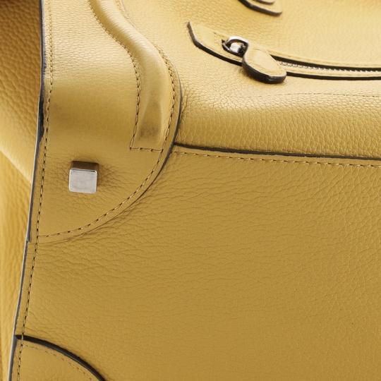 Céline Luggage Leather Satchel in yellow Image 5