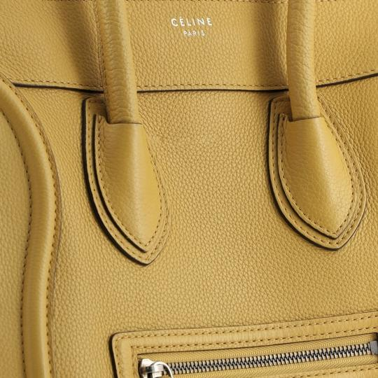 Céline Luggage Leather Satchel in yellow Image 6