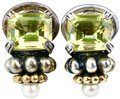 Lagos 18K and Sterling Silver Quartz Caviar Ear Clips Image 0
