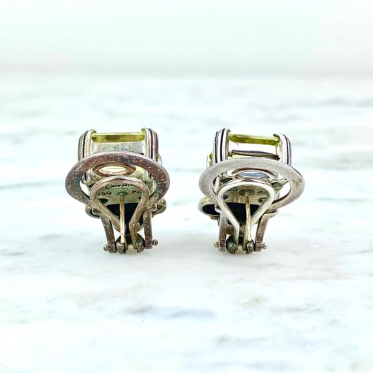 Lagos 18K and Sterling Silver Quartz Caviar Ear Clips Image 2