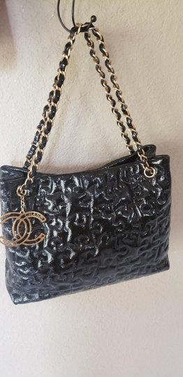 Chanel Cc Logo Grand Shopping Tote Blake Lively Gossip Girl Puzzle Piece Shoulder Bag Image 9