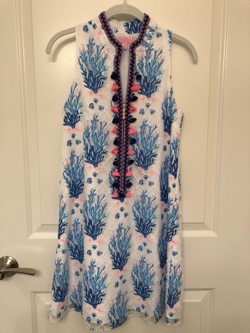 Lilly Pulitzer short dress white/navy/blue/pink on Tradesy Image 0